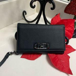 Rebecca Minkoff Black Leather iPhone X Case
